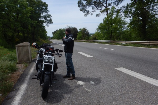route nationale 7 à moto