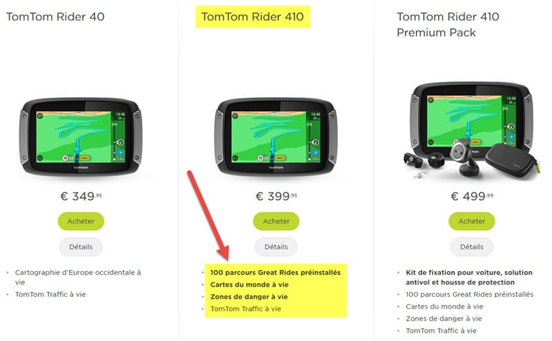 test tomtom rider 410 gps moto parcours sinueux roadbooks des bielles dans la t te. Black Bedroom Furniture Sets. Home Design Ideas